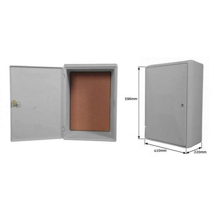 Electricity meter cabinet door for Standard electrical service sizes