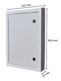 Large electric meter box cover and frame for recessed electric meter boxes