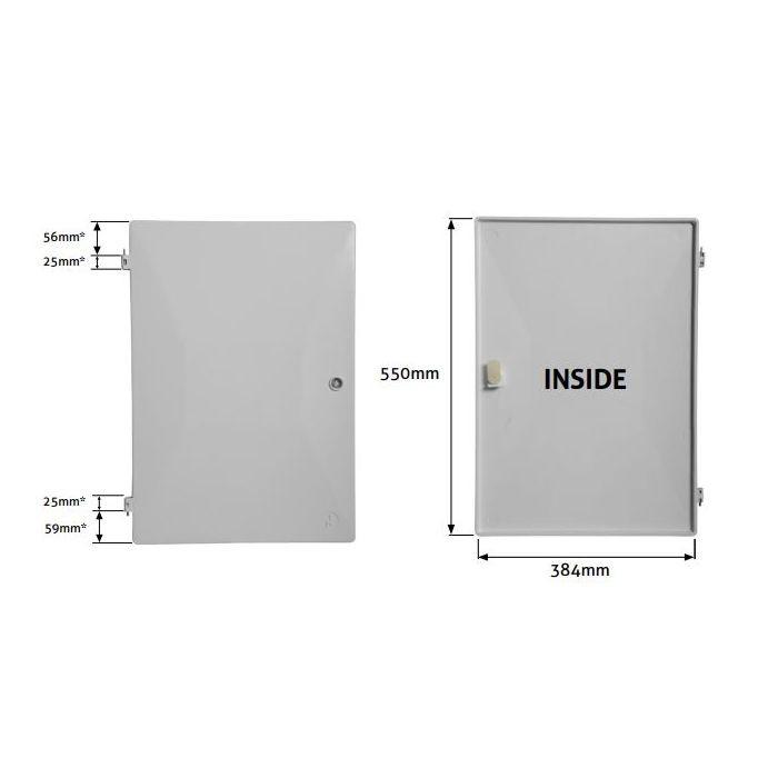 Measuring meter box doors